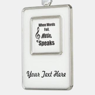 When Words Fail Music Speaks Christmas ornament