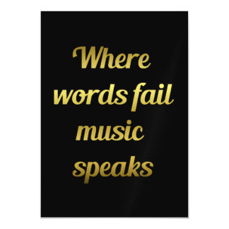 When words fail Music Speaks Inspirational Quote Magnetic Card
