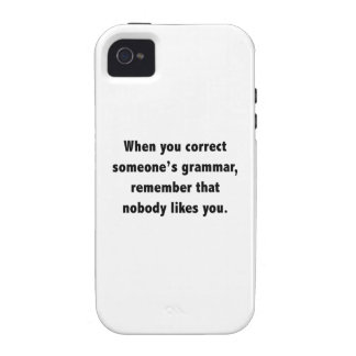 When You Correct Someone's Grammar Vibe iPhone 4 Cover