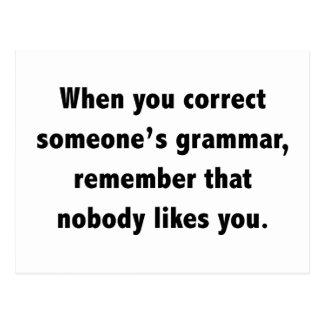 When You Correct Someone's Grammar Postcard