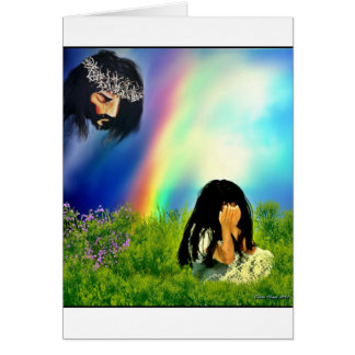 When You Cry he Cries Too Greeting Card