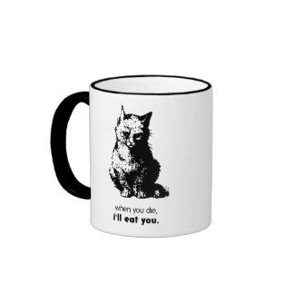 When You Die I'll Eat You Ringer Coffee Mug