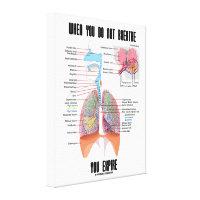 When You Do Not Breathe Expire Respiratory System Canvas Print