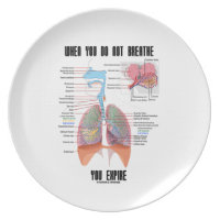 When You Do Not Breathe Expire Respiratory System Dinner Plate