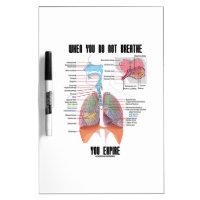 When You Do Not Breathe Expire Respiratory System Dry-Erase Whiteboard