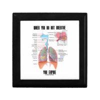 When You Do Not Breathe Expire Respiratory System Keepsake Box
