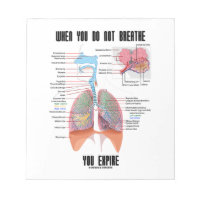 When You Do Not Breathe Expire Respiratory System Memo Note Pads