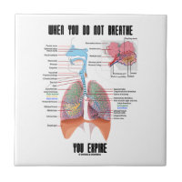 When You Do Not Breathe Expire Respiratory System Small Square Tile