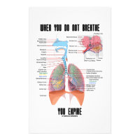 When You Do Not Breathe Expire Respiratory System Stationery