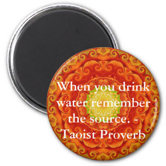 When you drink water remember the source. - Taoist Magnet