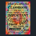 """When You Enter This Classroom Poster<br><div class=""""desc"""">You are important</div>"""