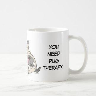 When You Feel Lousy You Need Pug Therapy Coffee Mug