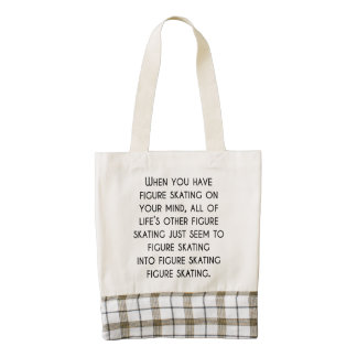 When You Have Figure Skating On Your Mind Zazzle HEART Tote Bag