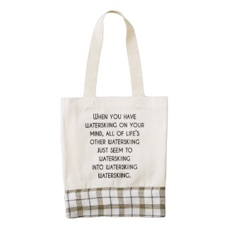 When You Have Waterskiing On Your Mind Zazzle HEART Tote Bag