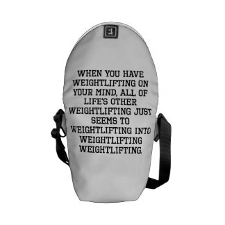 When You Have Wrestling On Your Mind Messenger Bags
