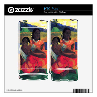 When You Hear by Eugène Henri Paul Gauguin Decal For HTC Pure