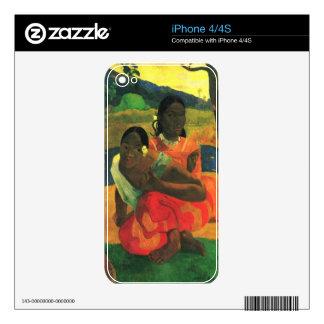 When You Hear by Eugène Henri Paul Gauguin Skin For iPhone 4