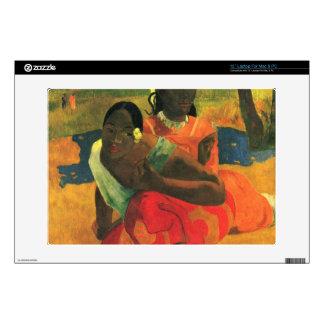 When You Hear by Eugène Henri Paul Gauguin Laptop Skin