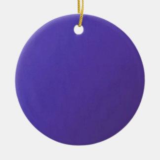 When you LOVE, you get HURT  Dark Blue Base Ceramic Ornament