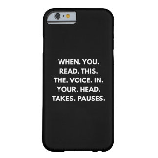 When You Read This Barely There iPhone 6 Case