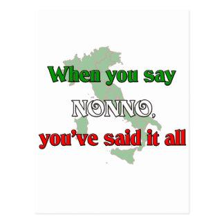 When You Say Nonno, You've Said It All Postcard
