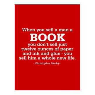 When You Sell A Man A Book Postcard