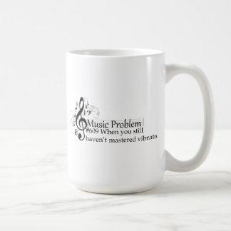 When you still haven't mastered vibrato. classic white coffee mug