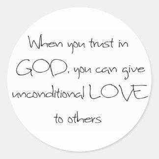 WHEN YOU TRUST IN GOD STICKER