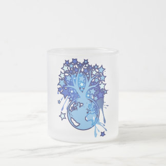 When You Wish upon a Star Frosted Glass Coffee Mug