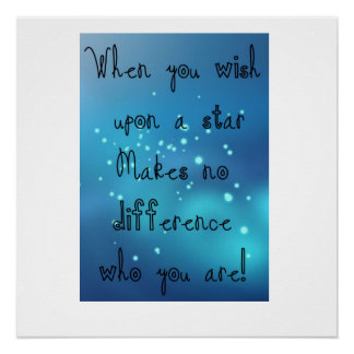When You Wish Upon A Star, Graphic Design Print Poster