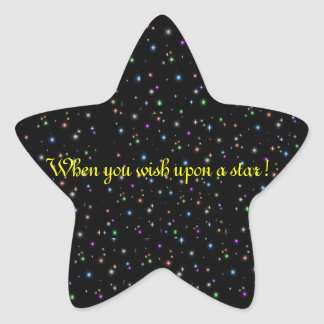 When you wish upon a star! star sticker