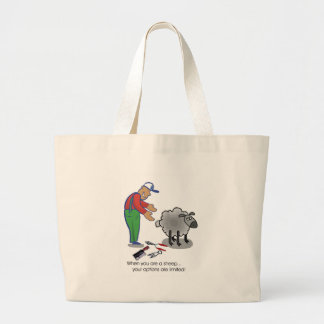 When You're a Sheep Large Tote Bag