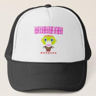 Whenever Wherever-Cute Monkey-Morocko Trucker Hat