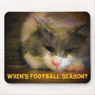 When's football season? Sad Kitty Mouse Pad