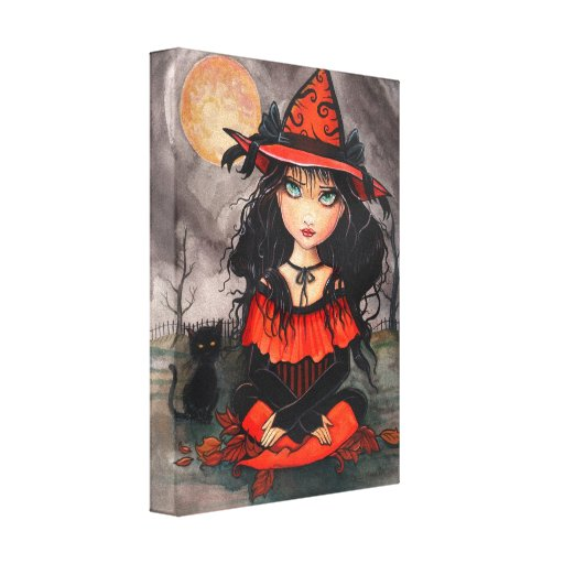 When's Halloween Wrapped Canvas Print