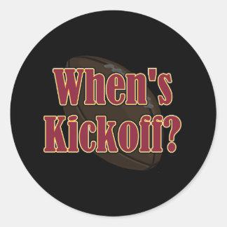When's Kickoff Classic Round Sticker