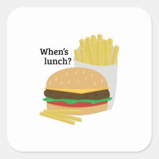 When's Lunch? Sticker