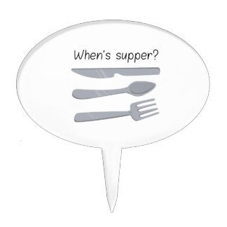 Whens Supper ? Cake Pick