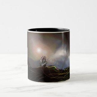 Where Angels Fear To Tread. Two-Tone Coffee Mug