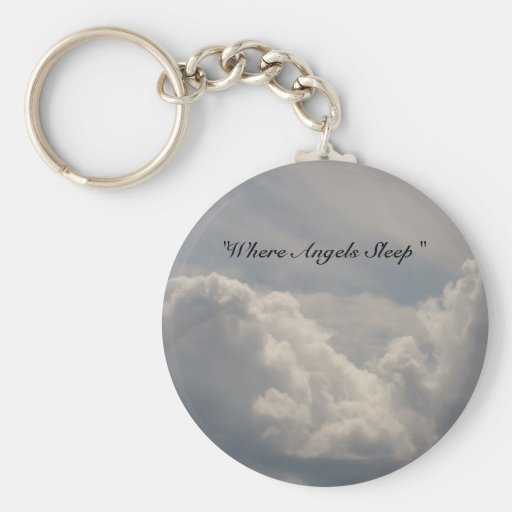 Where Angels Sleep Key Chain