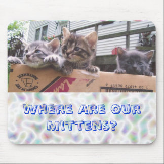 Where Are Our Mittens? Mouse Pad