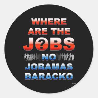 Where Are The Jobs Classic Round Sticker