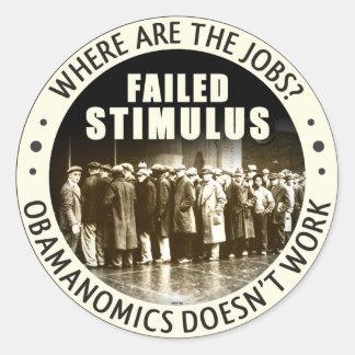 Where Are The Jobs? Classic Round Sticker