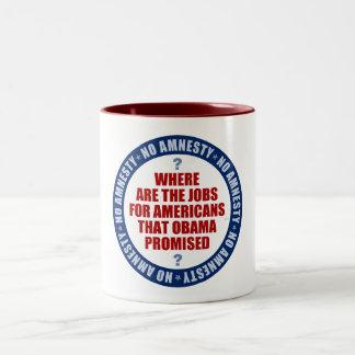 Where Are The Jobs Two-Tone Coffee Mug