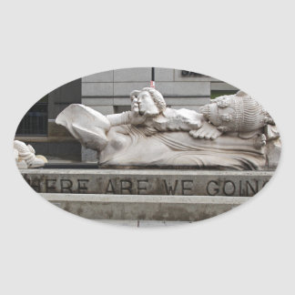 Where Are We Going Oval Sticker