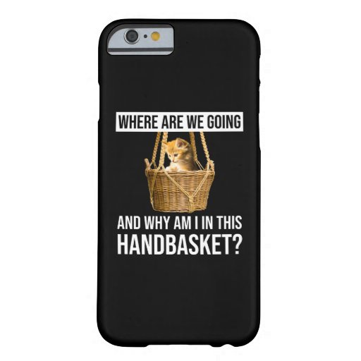 Where Are We Going & Why Am I In This Handbasket? Barely There iPhone 6 Case