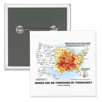 Where Are We Torpedoed By Tornadoes? 2 Inch Square Button