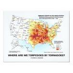 Where Are We Torpedoed By Tornadoes? 4.25x5.5 Paper Invitation Card