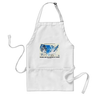Where Are We Winded By Wind? (Wind Power) Adult Apron