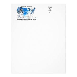 Where Are We Winded By Wind? (Wind Power) Letterhead